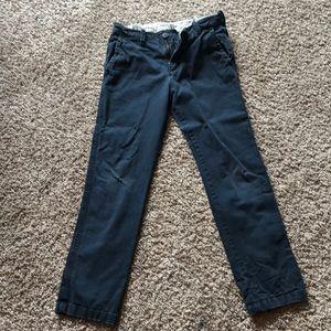 Navy Blue Abercrombie Kids Khakis